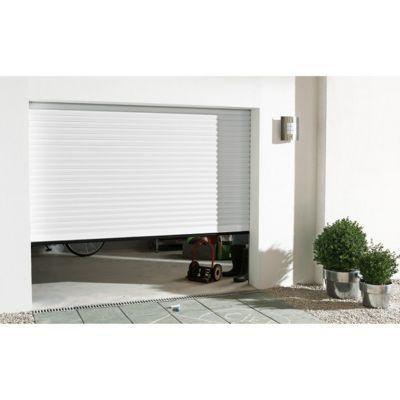 Porte de garage enroulable aluminium Kiev 1 blanc - L.240 x h.200 cm