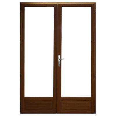 Porte Fenêtre Bois 2 Vantaux Ouverture à La Française Tirant Droit