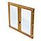 Porte fenêtre bois 2 vantaux tirant droit 120 x h.215 cm