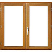Fenêtre bois 2 vantaux ouverture à la française tirant droit 140 x h.95 cm