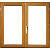 Fenêtre bois 2 vantaux ouverture à la française tirant droit 90 x h.115 cm