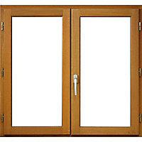 Fenêtre bois 2 vantaux ouverture à la française tirant droit 90 x h.155 cm