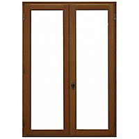 Fenêtre bois 2 vantaux ouverture à la française tirant droit 100 x h.135 cm