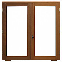 Fenêtre bois 2 vantaux ouverture à la française tirant droit 100 x h.105 cm