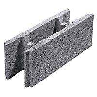 Parpaing à bancher creux béton 20 x 20 x 50cm