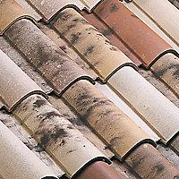 Tuile 1/2 pureau Oméga 13 vieux toit