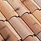 Fronton grand modèle faitière Oméga mistral et vieux toit