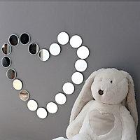 27 miroirs ronds Ø5 cm