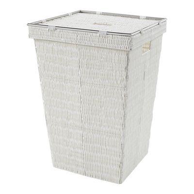 panier linge plastique blanc norasia bombay 50l castorama. Black Bedroom Furniture Sets. Home Design Ideas