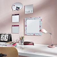 Miroir rose 20 x 20 cm