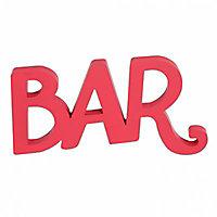 """Mot décoratif rouge """"Bar"""""""