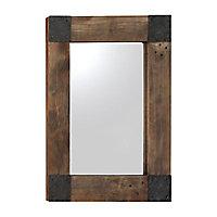 Miroir Wood Metal Square 53 x 67 cm