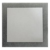 Miroir carré Glitter argent 35 x 35 cm