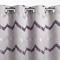 Rideau Zag gris anthracite/violet 140 x 240 cm