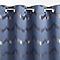 Rideau Zag bleu/gris 140 x 240 cm