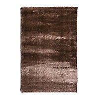 Tapis Shaggy taupe 60 x 90 cm