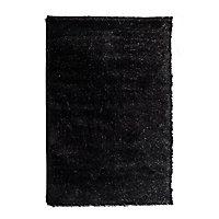 Tapis Shaggy noir 60 x 90 cm
