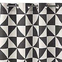 Rideau triangle noir et blanc 140 x 240 cm