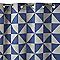 Rideau triangle bleu 140 x 240 cm