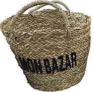 Panier de rangement tressé Bazar coloris naturel taille L