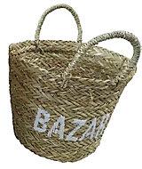 Panier de rangement tressé Bazar coloris naturel taille S