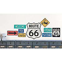 Sticker mur Route 66
