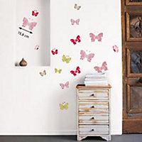 Sticker mur Papillons color