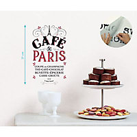 Sticker mur Café de Paris 24 x 36 cm