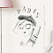 Stickers Paris fashion 49 x 69 cm