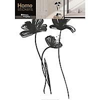 Stickers Fleurs noires 49 x 69 cm