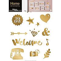Stickers Symboles et mots 49 x 69 cm