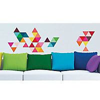 Stickers Triangles couleurs 49 x 69 cm