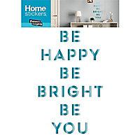 Stickers Be happy blue 49 x 69 cm