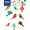 Stickers Famille oiseaux 49 x 69 cm
