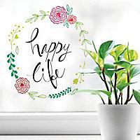 Stickers Happy life 24 x 36 cm