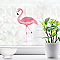Stickers Flamant rose 24 x 36 cm