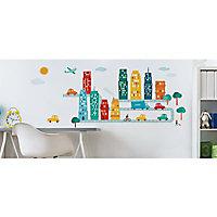 Stickers Kid's city 49 x 69 cm