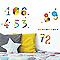 Stickers Chiffres rigolos 24 x 36 cm
