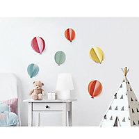 Stickers Ballons 3D 24 x 36 cm