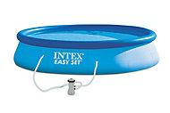 Piscine autoportante Intex Easy Set ø3,96 m + Gonfleur à main