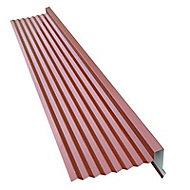 Rive pour plaque métal imitation tuile Bacacier Home Steel rouge