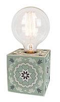 Lampe à poser Dada Art Giulya vert d'eau