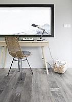 Revêtement sol PVC Funtex Lewis gris 4m (vendu à la coupe)