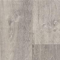 Revêtement sol PVC Texline Hudson Pearl effet bois marron 4m (vendu à la coupe)