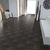 Revêtement sol PVC Select Melbourne gris 4 m (vendu à la coupe)