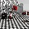 Revêtement sol PVC Damier noir et blanc 4m (vendu à la coupe)