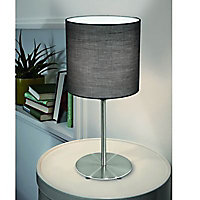 Lampe à poser Colours Finch acier et gris brossé