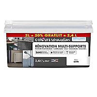 Peinture de rénovation multi-supports Colours blanc satiné 2L + 20% gratuit