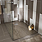Receveur de douche à poser résine argile Cooke & Lewis Piro 80 x 120 cm