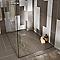 Receveur de douche à poser recoupable résine argile Cooke & Lewis Piro 80 x 120 cm